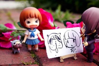 Eiji draw Mako and Guts :3 by Ran91