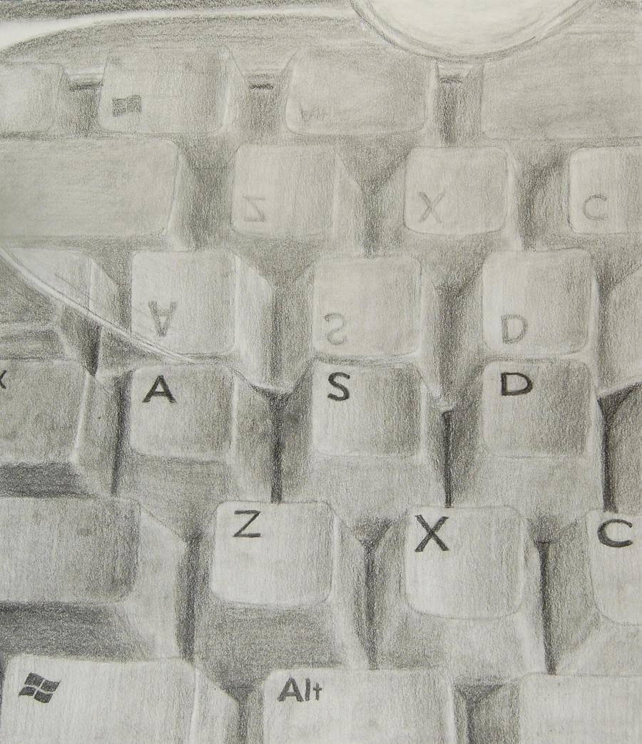 Keyboard reflection by ReadingRaven019
