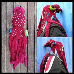 Strawberry Squid Hat