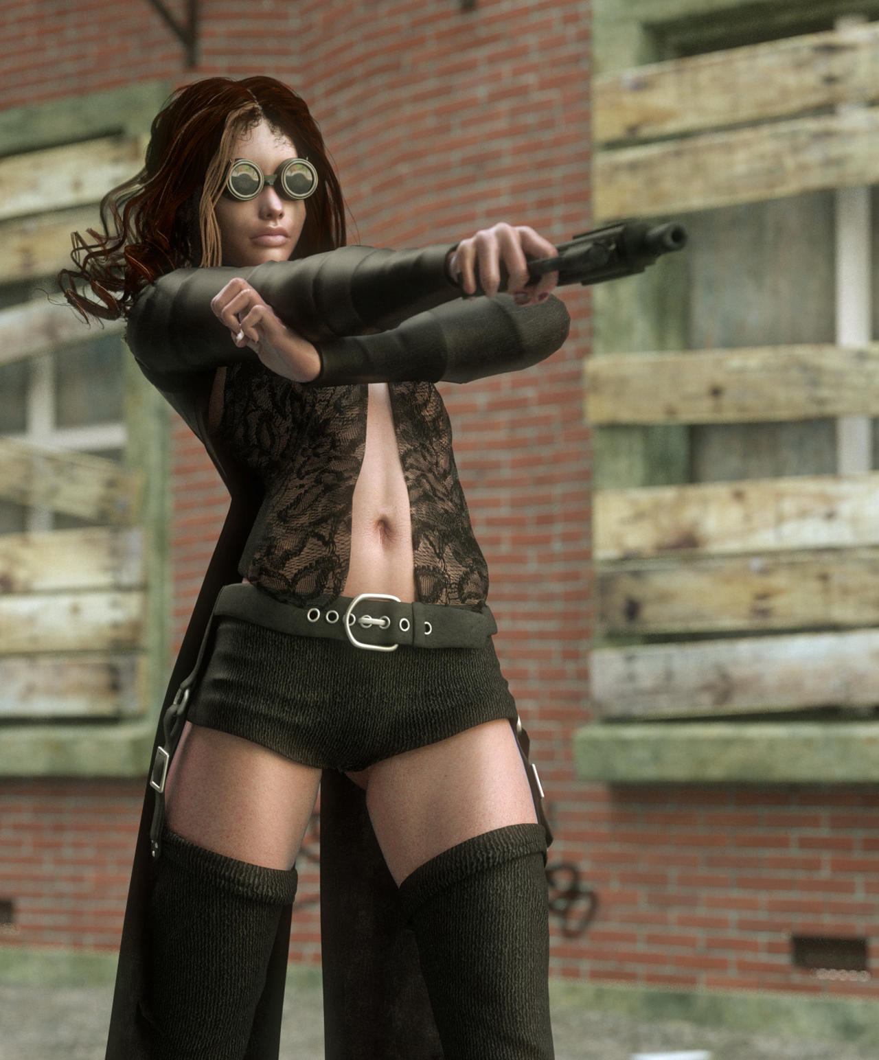 Alley Assassin by lyssophobe