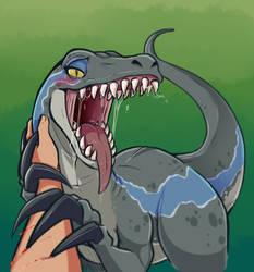 Blue is best Raptor by BrachyArtz