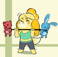 Isabelle is getting ready for Smash!!