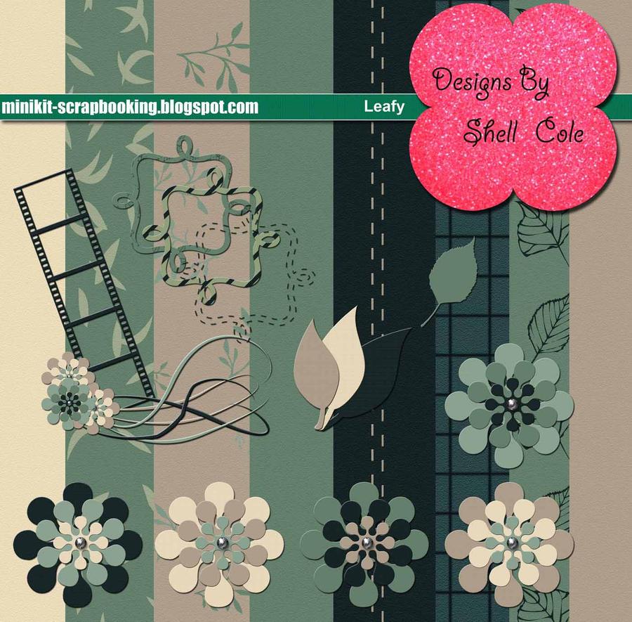 Leafy - Scrapbook Kit by shelldevil