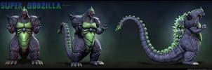Super Godzilla Turnaround by Digiwip