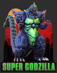 Super Godzilla SNES Graphic Design by Digiwip