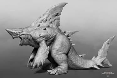 REQUIEM, the Kaiju shark by Digiwip