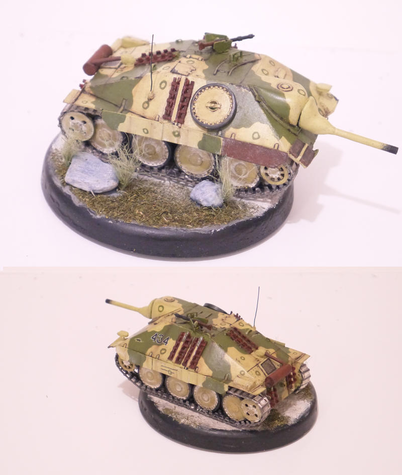 Jagdpanzer 38(t) Hetzer 1/50 scratch build by tec192