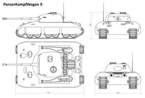 Pz KpFw X (Blueprint simplified ver.)