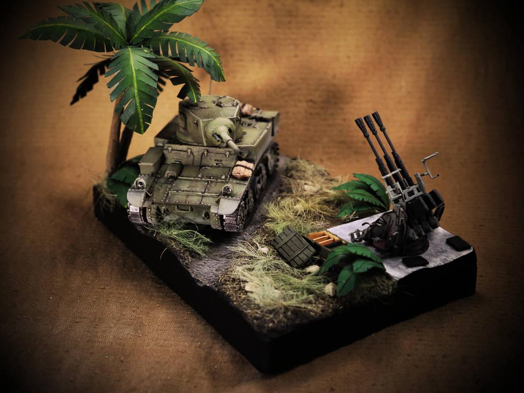 M3 Stuart 1/50 scratch build