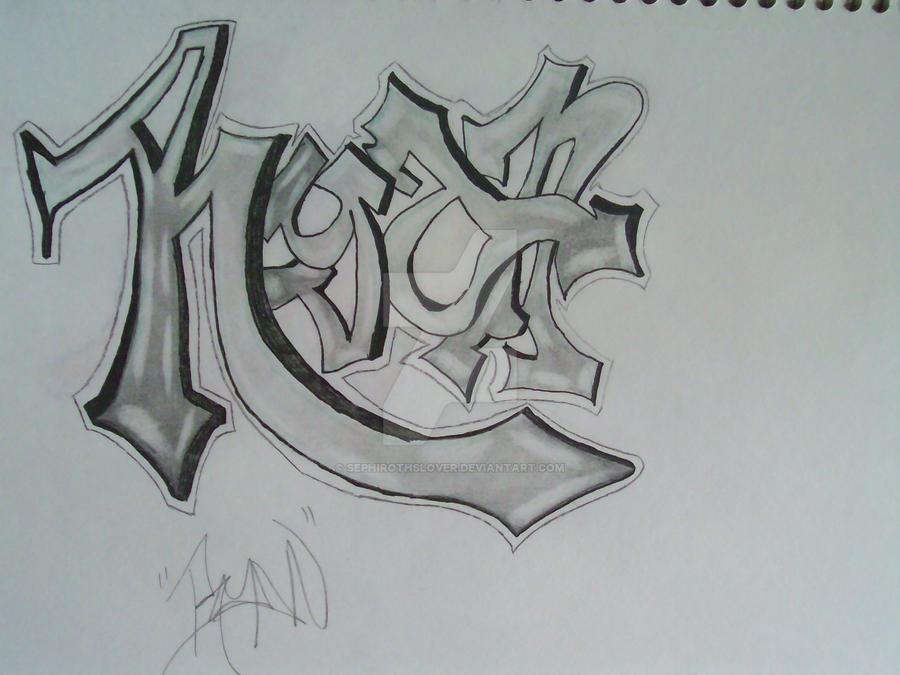 Ryan- Graffiti Style by SephirothsLover