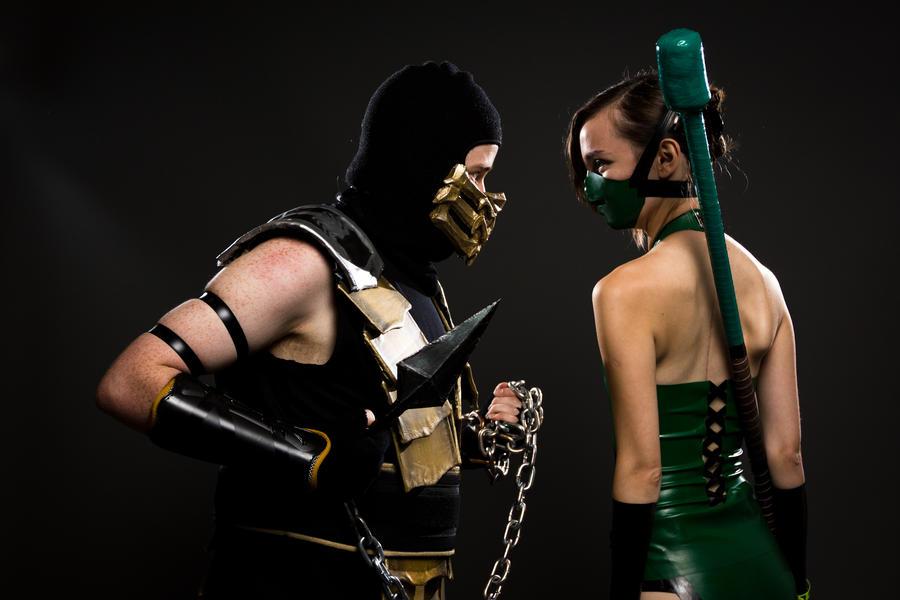 Jade vs Scorpion by theARTofCARNAGE