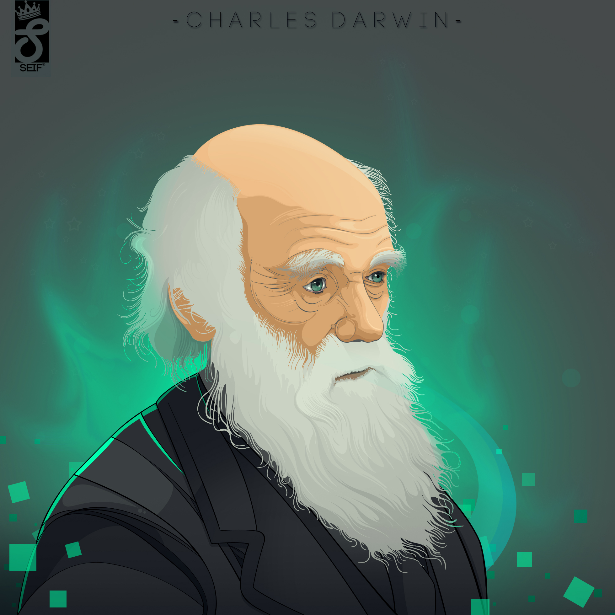 Charles Darwin vector art by SeifDVA