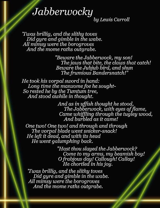 Jabberwocky Poem 2 by jalquor on DeviantArt
