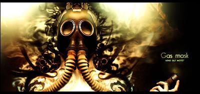 Gas mask signature