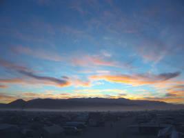 Sunset Over Burning Man by Yiffyfox