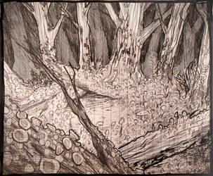 Only slightly haunted forest by bruncikara