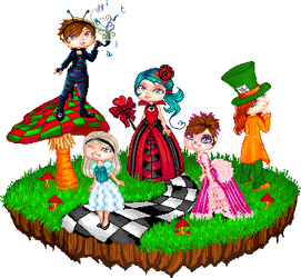 Wonderland whimsy by KuuKiir