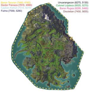 Kingdom of Pelladane - Rare Mob Map