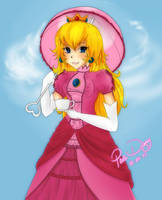 Gift - Princess Peach by Brain-Artist