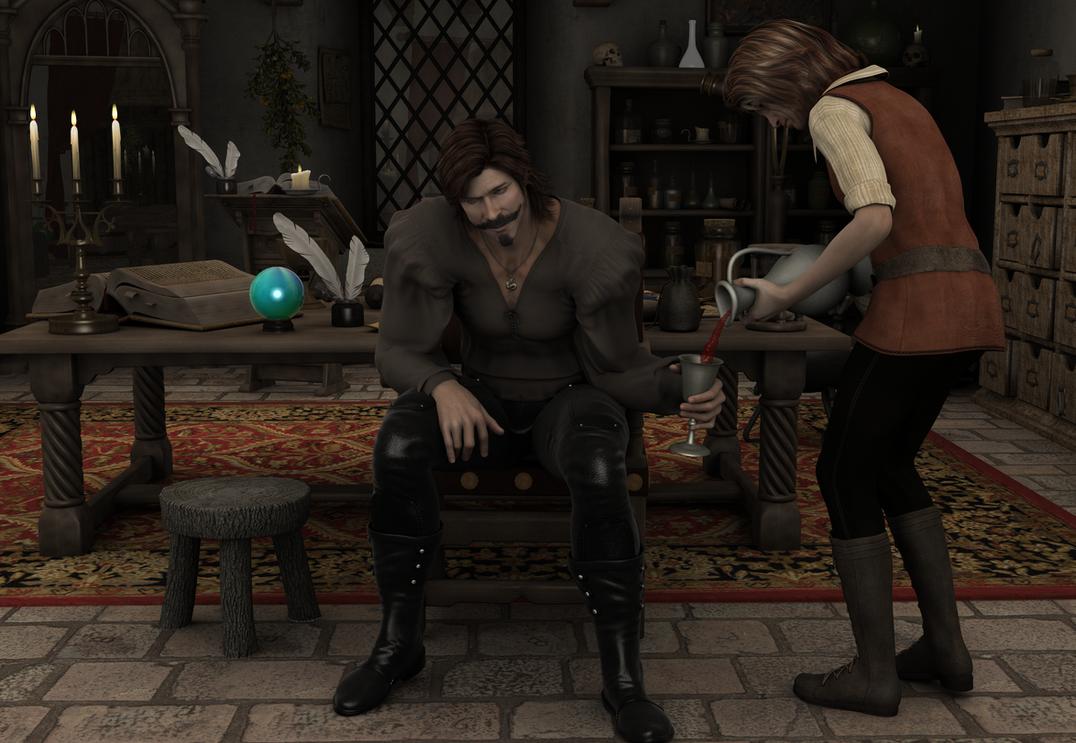 Meister Thiberius ist betrunken by JUJUsternchen