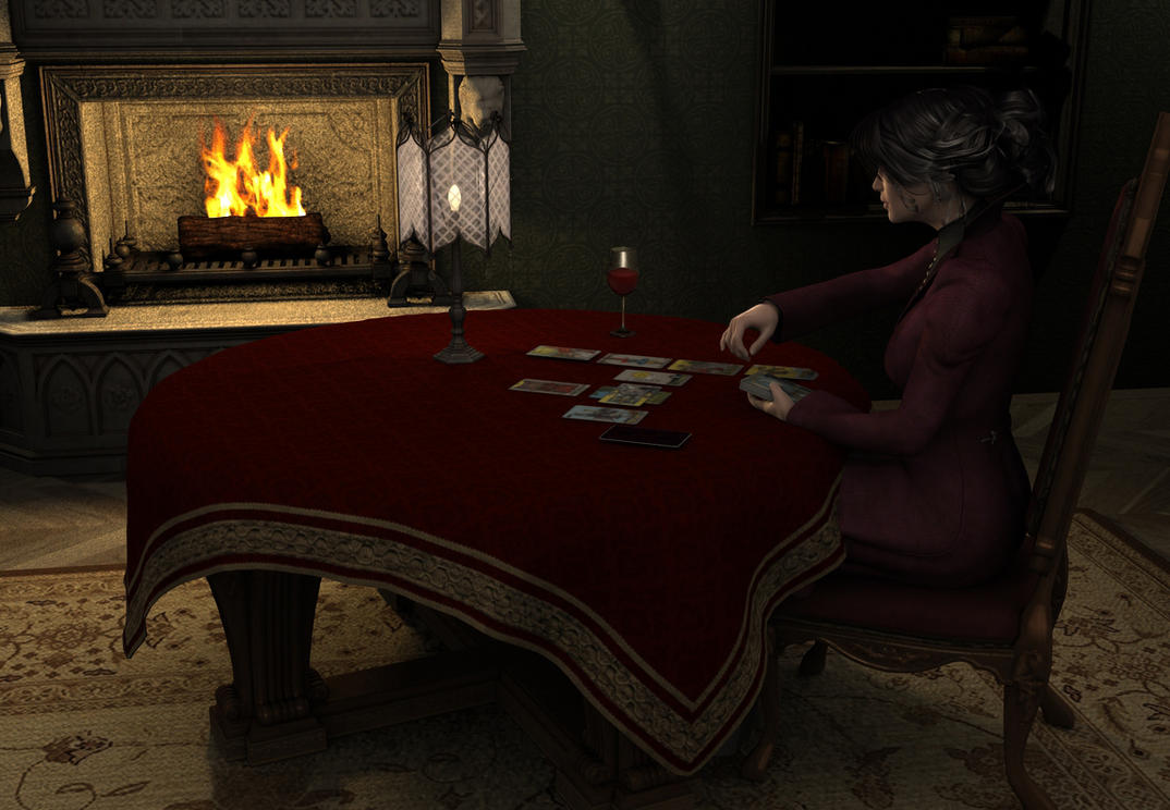 Vanessa by the fireside by JUJUsternchen