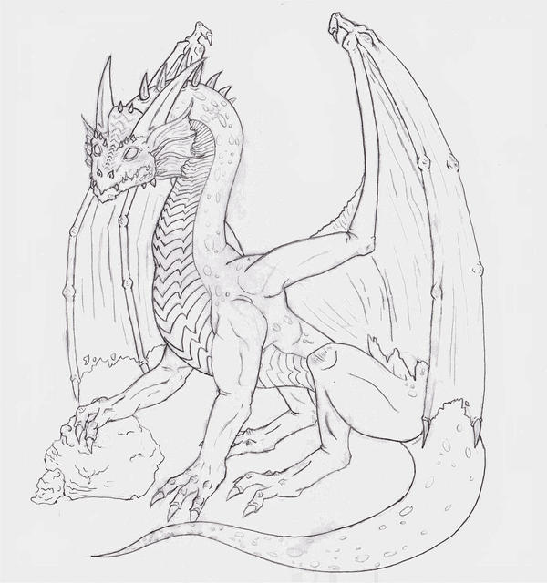 Line Drawing Fire : Fire dragon line drawing by poisongunclub on deviantart