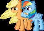 Applejack Rainbow Dash Sad