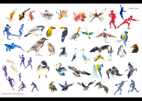 Watercolor gestures