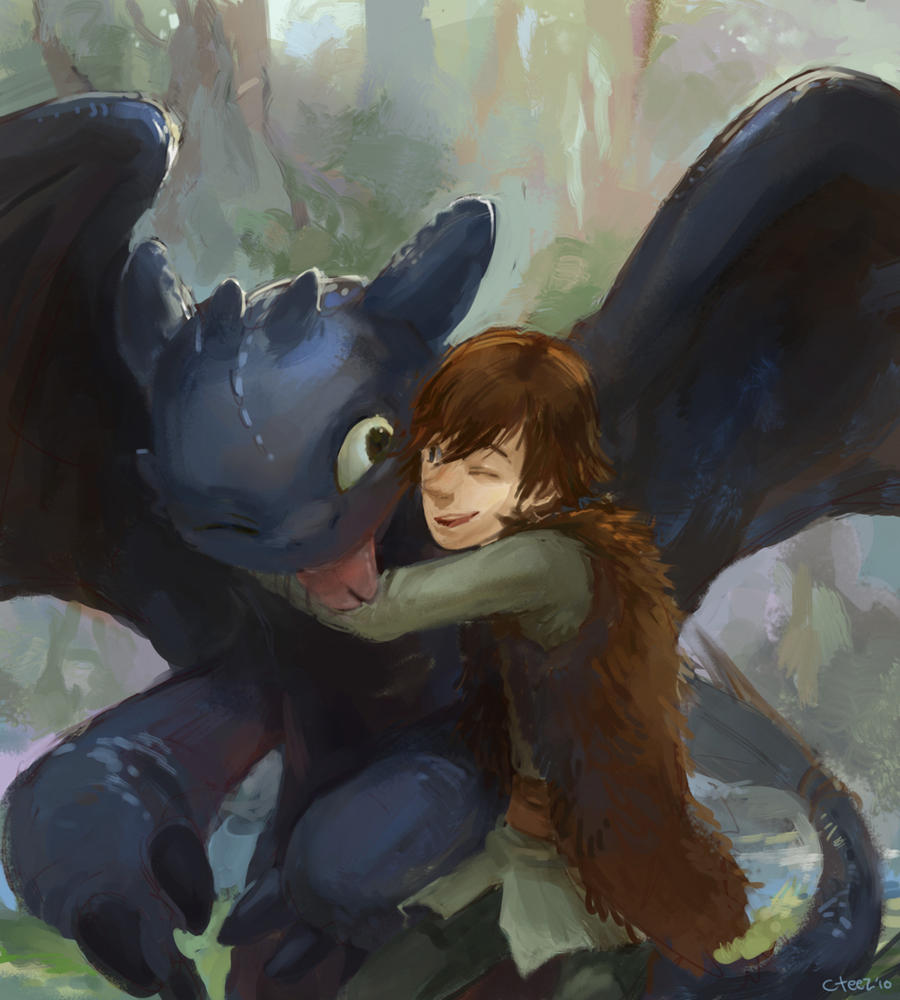 Toothless Wallpaper: Toothless And Hiccup By Lychi On DeviantArt
