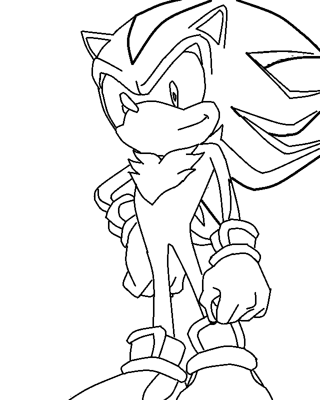 Line Drawing Hedgehog : Shadow the hedgehog lineart by selena cat on deviantart