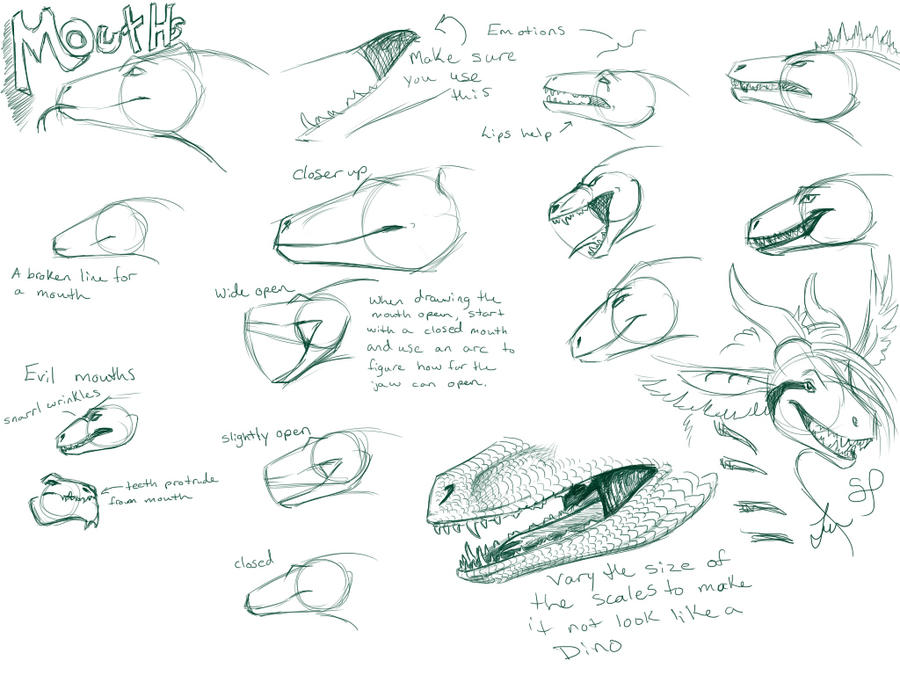 Dragon Mouth Tutorial by NakaseArt on DeviantArt