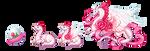 Rosebud Dragons by NakaseArt
