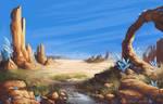 Desert Landscape by NakaseArt