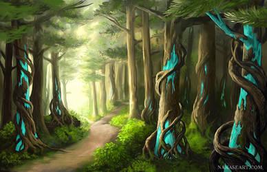 Forest Landscape by NakaseArt