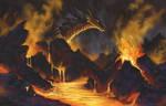 Volcano Landscape by NakaseArt