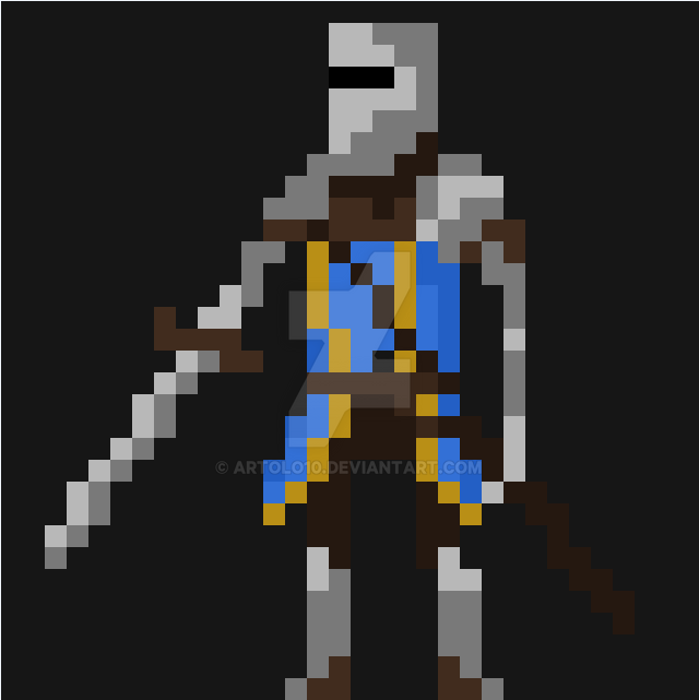 Character Design Pixel Art : Pixel art knight sprite by artolo on deviantart