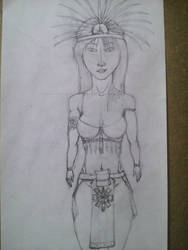 Making Aztec Princess 06 by FPIaztec1995