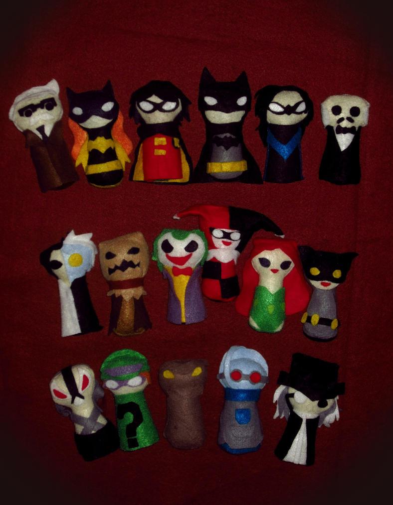 Batman Keyhole Plushies: Complete Set by Nonameth