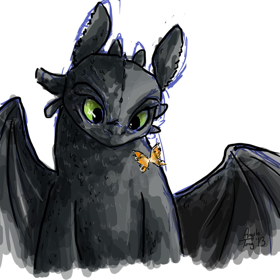Toothless sketch by Dreamsoffools