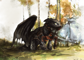 Toothless Watercolour