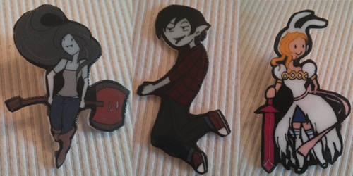 Adventure Time Marcy Marshall Lee and Fionna Pins by liekomgkristy