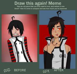 Kurotane Piko before and after by KamiyaxKenshin
