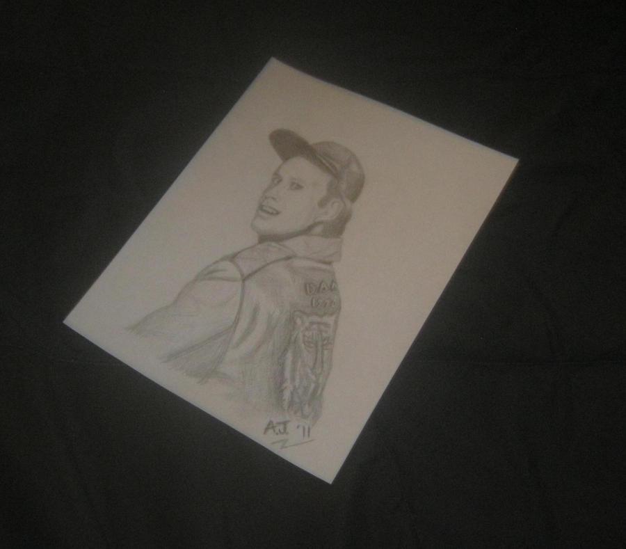 Dwight Schultz as H.M. Murdock Pencil Sketch by AJHoward