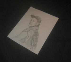 Dwight Schultz as H.M. Murdock Pencil Sketch