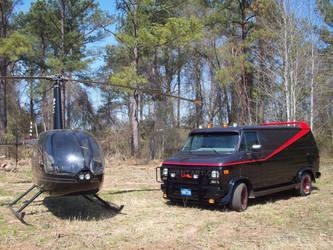 A-Team Van and Chopper