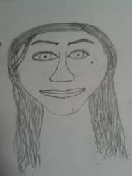 Portrait (More like bullying my friend! ~ :D ) by DarkSupernaturalGirl