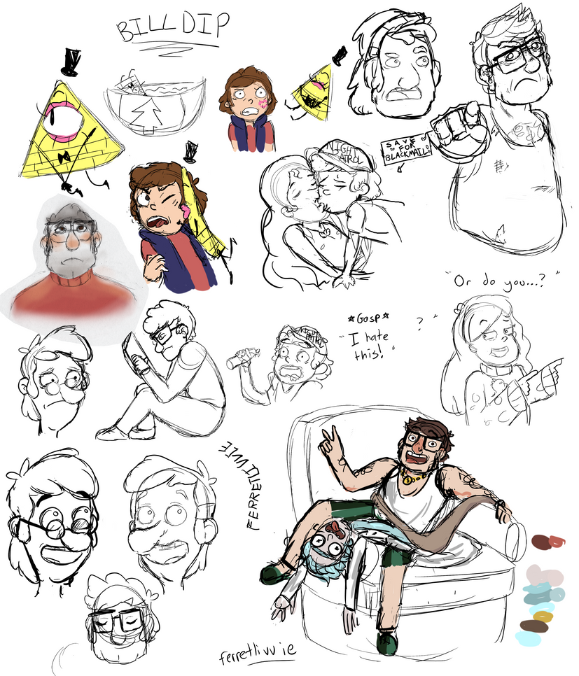 Gravity Falls Sketch Dump by ferretlivvie