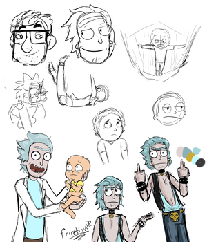 Rick and Morty Sketch Dump
