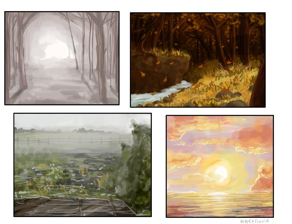 Background Practice by ferretlivvie