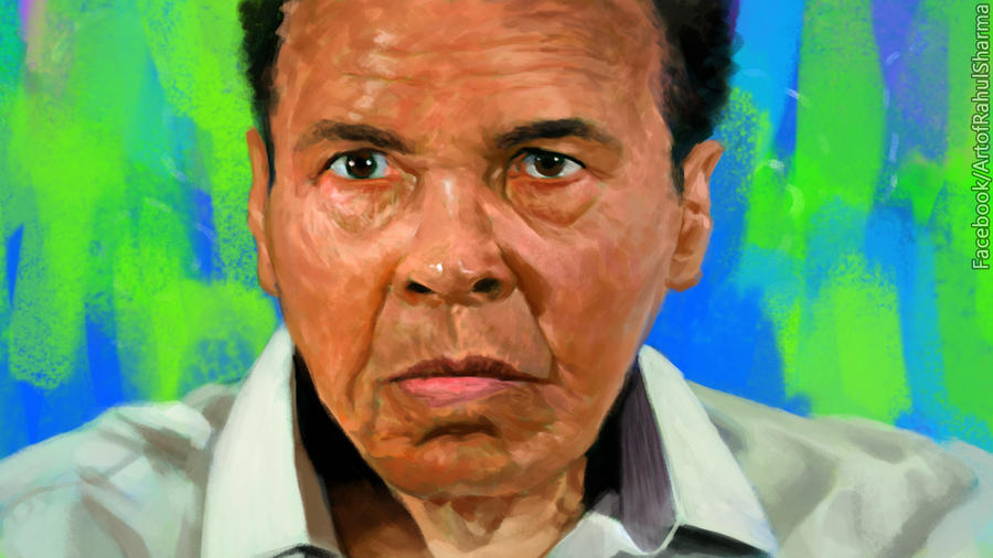 Muhammad Ali's portrait by TheComicArtist